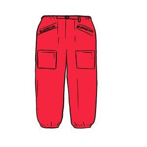 Supreme Pants SS20 Utility Belted | Red / White